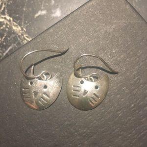 Tsumori Chisato Sterling Silver Cat Earrings
